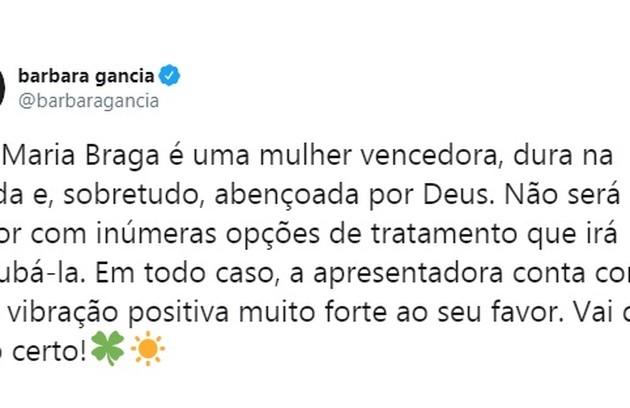 Barbara Gancia faz homenagem a Ana Maria (Foto: Reprodução/Instagram)