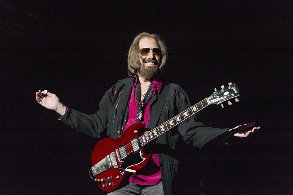 Tom Petty faz show em San Diego, na Califórnia, nos EUA, em setembro de 2017 (Foto: Amy Harris/Invision/AP)