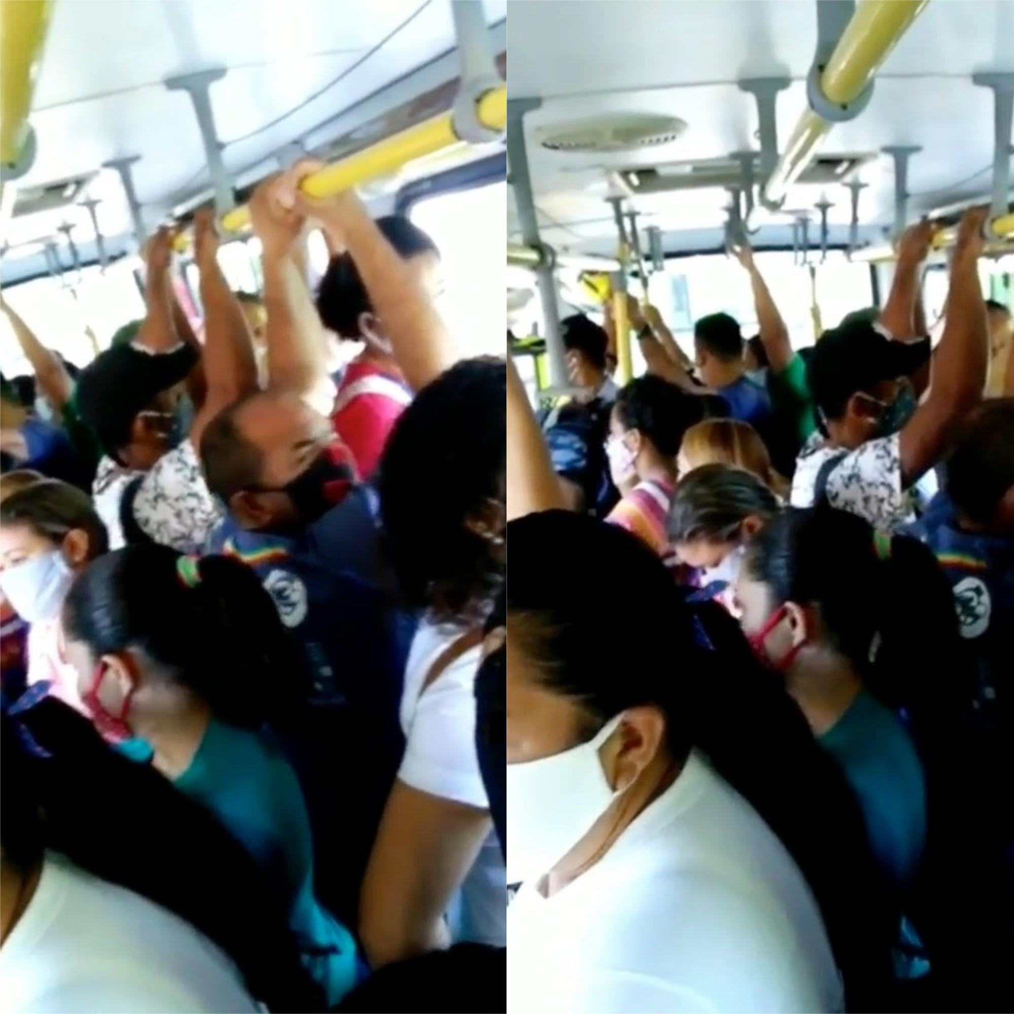Passageiros denunciam lotação em ônibus durante pandemia em Teresina; vídeo