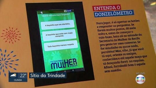 Jogo é lançado no Recife para incentivar combate ao assédio contra mulheres no São João