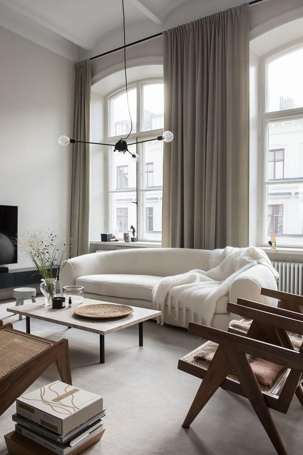 Décor do dia: tons neutros na sala de estar (Foto: Reprodução)