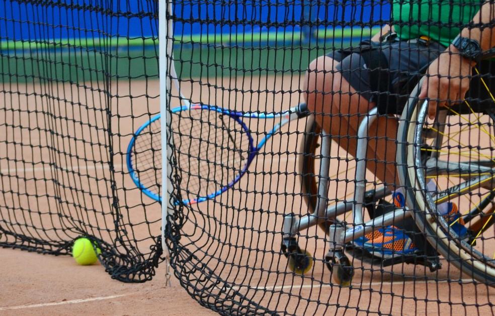 Tênis cadeira de rodas (Foto: Danilo Sardinha/GloboEsporte.com)