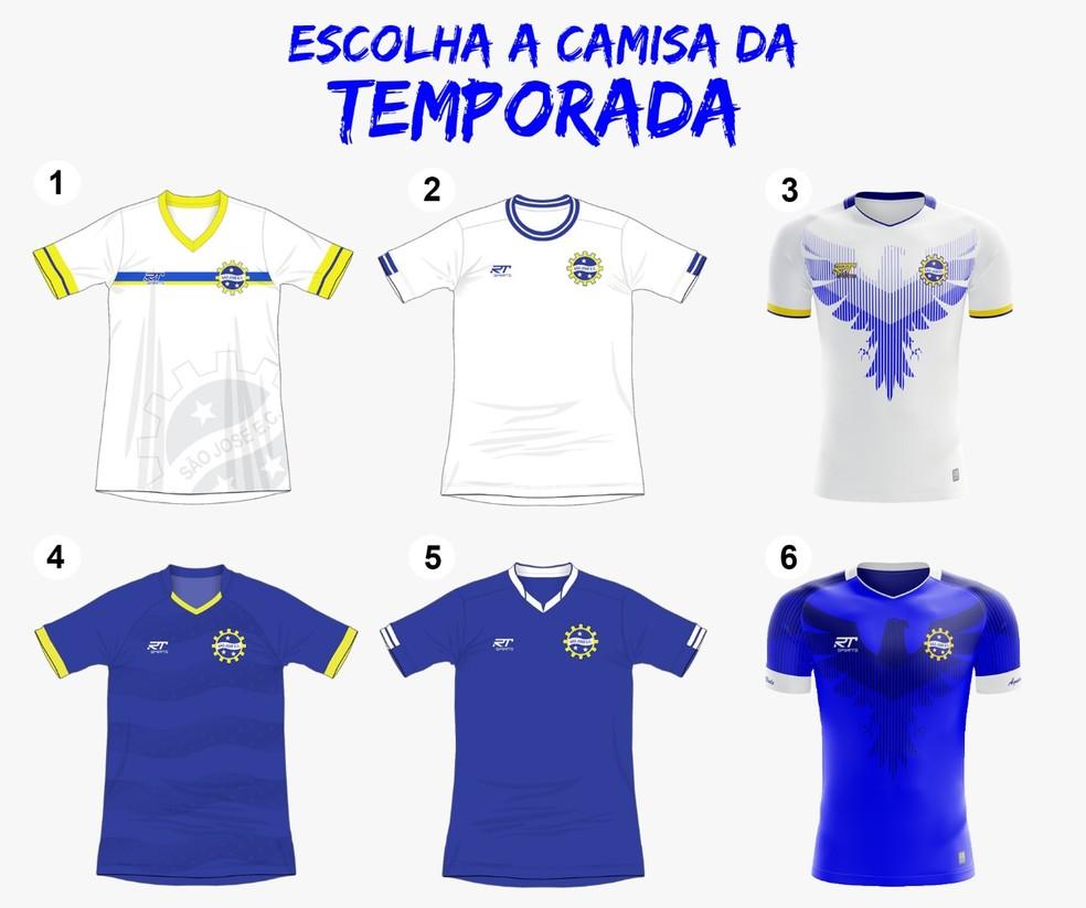4546caeee9 ... São José abre votação para escolha dos uniformes em 2019 — Foto   Divulgação   São
