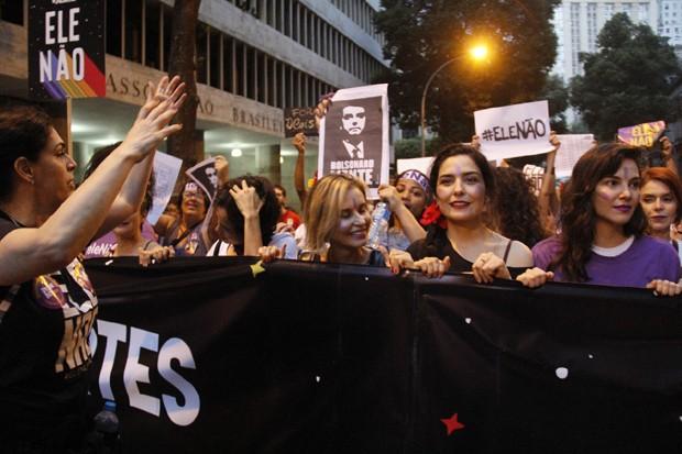 Paula Lavigne, Paula Burlamaqui, Letícia Sabatella e Tainá Muller (Foto: Wallace Barbosa/Agnews)