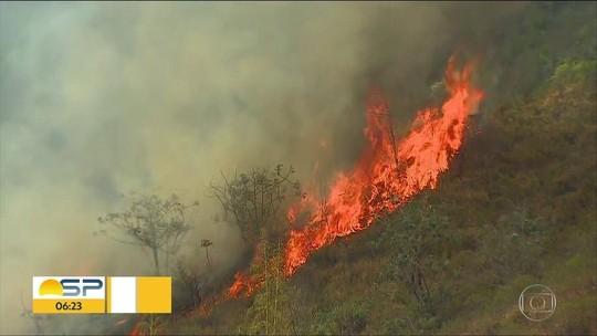 Fogo na Serra da Bocaina é controlado; 1,2 mil hectares foram destruídos