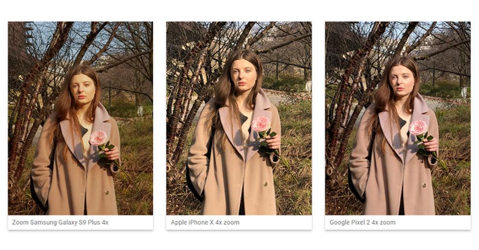 Fotos tiradas com zoom no Galaxy S9 Plus e rivais (Foto: Divulgação/DXOMark)