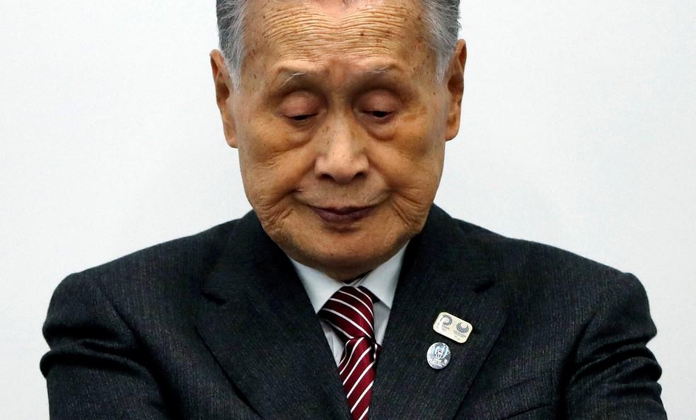 Yoshiro Mori abre debate sobre custos extras com o adiamento dos Jogos de Tóquio — Foto: REUTERS/Issei Kato