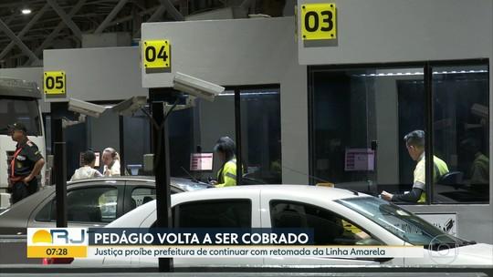 Linha Amarela: pedágio volta a ser cobrado após decisão da Justiça