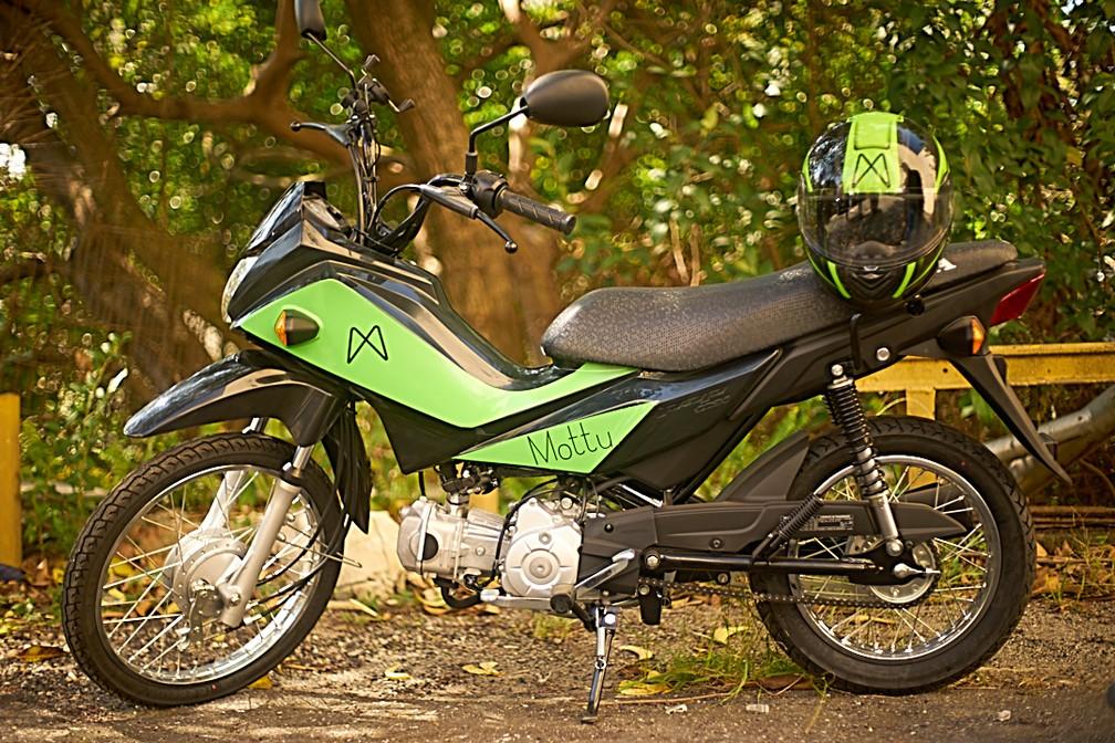 Honda Pop 110i é o modelo disponível para aluguel da Mottu — Foto: Divulgação