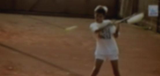 Federer jogando ainda na infância