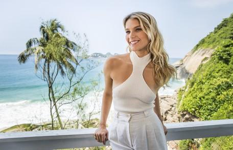 A atriz de 25 anos mora na frente da praia da Joatinga, no Joá, na Zona Oeste do Rio João Miguel Junior/Globo