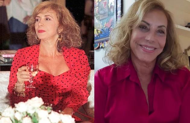 Arlete Salles foi Cacilda, uma ex-acrobata de circo. Recentemente, a atriz apareceu nas séries 'Diário de um confinado' e 'Amor e sorte' (Foto: TV Globo / Reprodução)