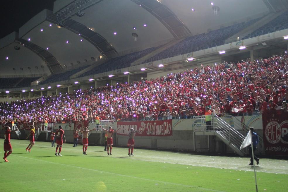 América fará o jogo da volta na sexta-feira, dia 28, na Arena das Dunas (Foto: Fabiano de Oliveira)
