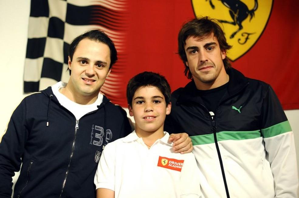 Felipe Massa conheceu Lance Stroll ainda criança (Foto: Divulgação/Ferrari)