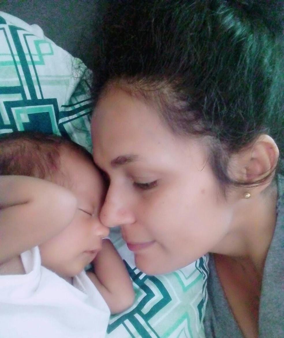 Bebê de apenas dois meses morreu por broncoaspiração — Foto: Arquivo pessoal