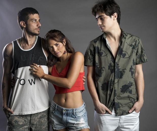 Chay Suede, Letícia Colin e Danilo Mesquita (Foto: Globo/João Miguel Júnior)