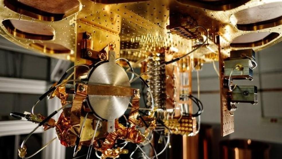 Componentes do computador quântico do Google — Foto: Google/BBC