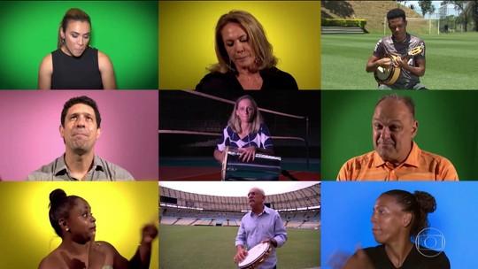 EE 45 anos: Personalidades do esporte cantam o tema do Esporte Espetacular