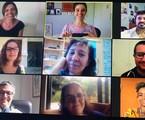 Marta Rangel (pesquisadora), Priscila Steinman (autora), Rodrigo Fonseca (jornalista), Laura Rissin, Isabel Muniz, Tarcísio Lara Puiati, Mário Vianna (colaboradores), Márcia Prates (autora) e Natália Balbino (colaboradora) | Arquivo pessoal