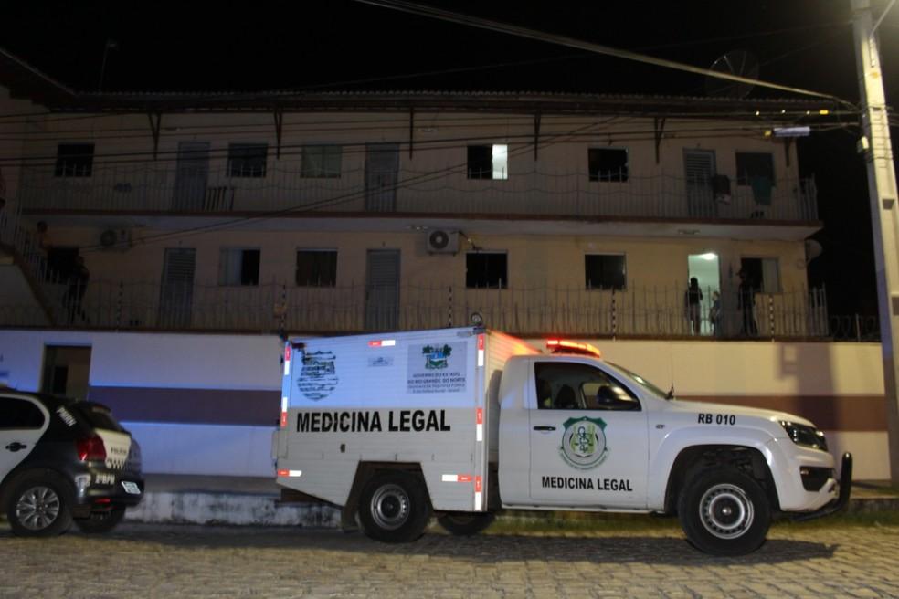 Crime aconteceu na madrugada deste domingo (14) — Foto: Marcelino Neto/O Câmera