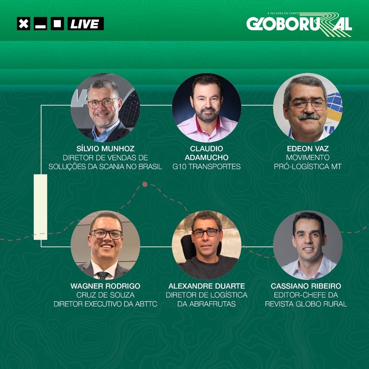 Convidados da live de estreia do Caminhos da Safra 2021/2022 (Foto: Estúdio de criação/Ed.Globo)
