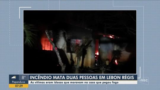 Idosas morrem durante incêndio em casa de Lebon Régis