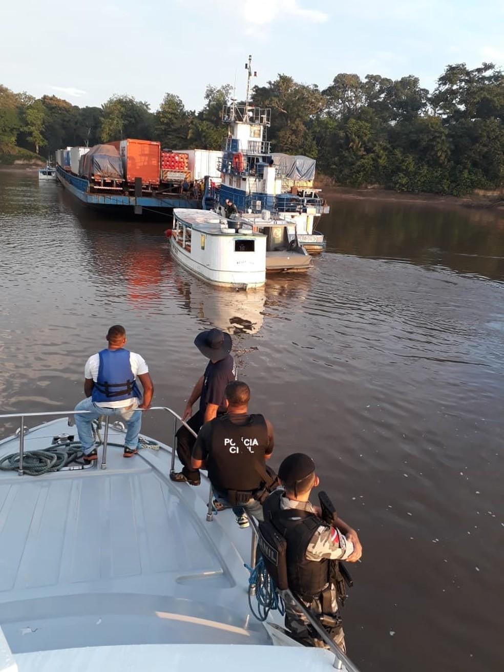 -  Operação fiscaliza embarcações nos rios do Pará.  Foto: Divulgação / Segup
