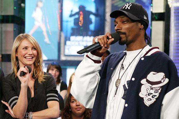 A atriz Cameron Diaz e o rapper Snoop Dogg (Foto: Getty Images)
