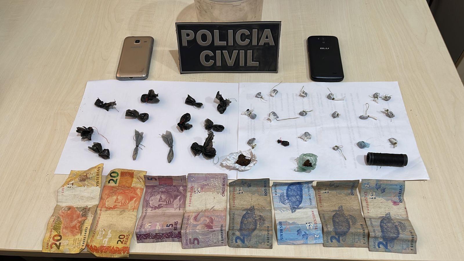 Dupla é presa por tráfico de drogas e associação para o tráfico no Residencial Salvação, em Santarém