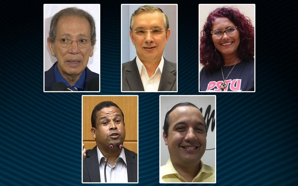 Candidatos ao governo de Sergipe (Foto: Arte/Raphael Goettenauer)