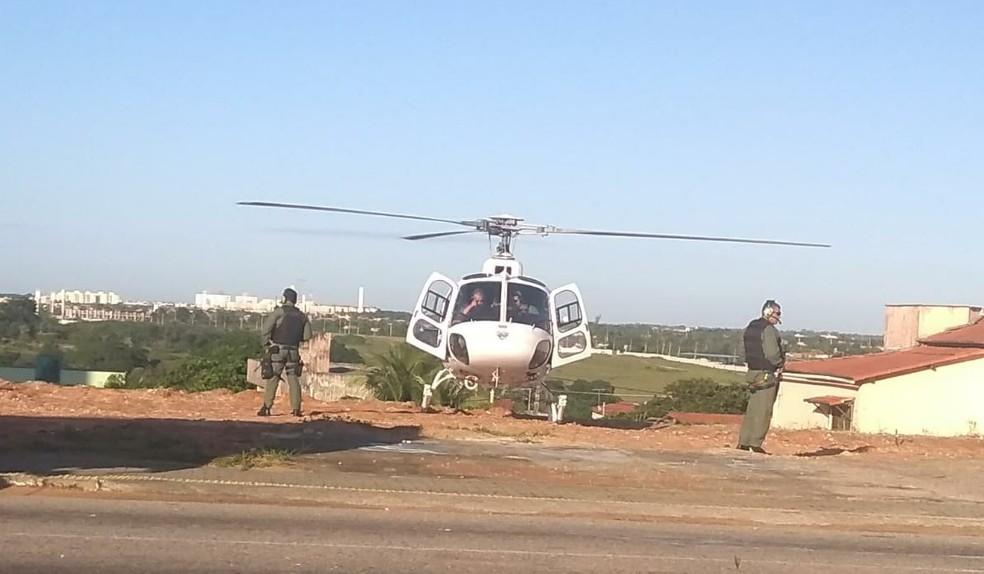 Policiais civis e militares realizaram nesta quinta (19) uma operação conjunta em combate ao tráfico de drogas na cidade de Parnamirim, na Grande Natal (Foto: Luciana Cavalcante)