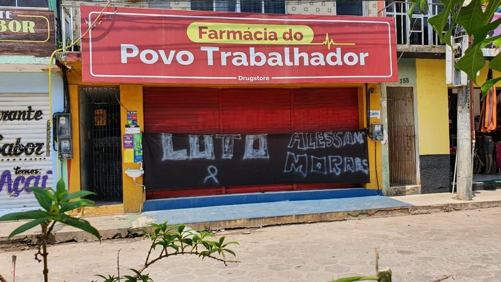 Vítima de ação de bandidos em Cametá trabalhava em uma farmácia no centro da cidade. — Foto: Reprodução
