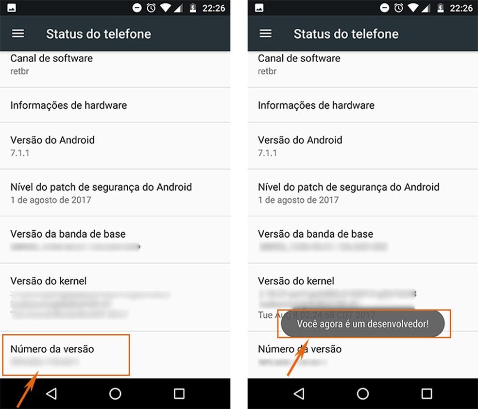 Ative o modo desenvolvedor no Android (Foto: Reprodução/Barbara Mannara)