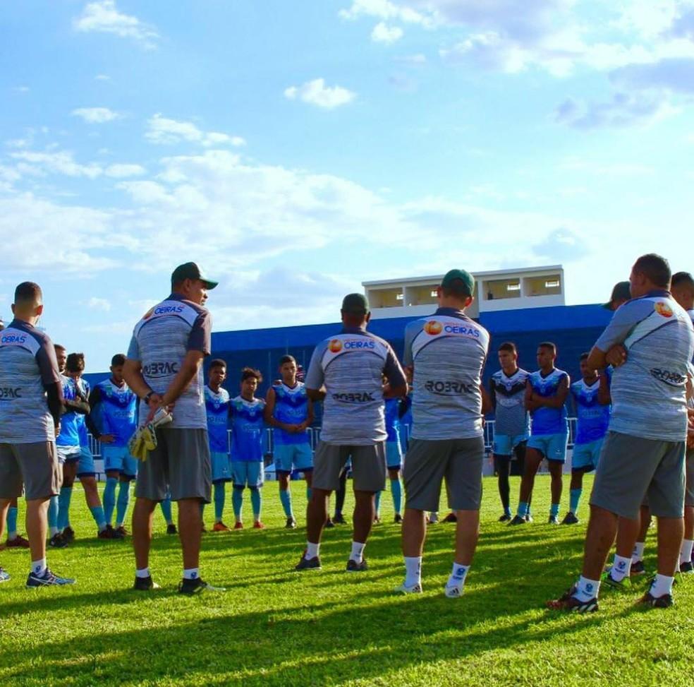 Treino Oeirense — Foto: Thiago Reis/Oeirense AC