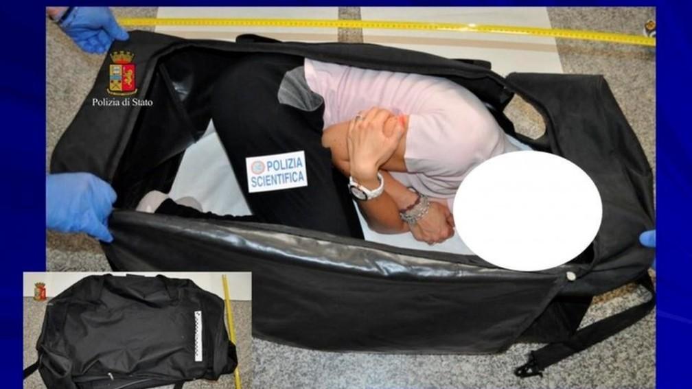 Modelo Chloe Ayling foi dopada e colocada dentro de uma mala (Foto: Reuters)