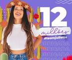 Juliette Freire atingiu a marca de 12 milhões de seguidores | Reprodução