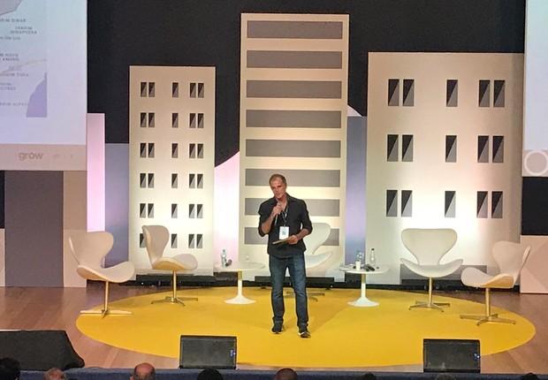 Marcelo Loureiro, CEO da Grow no Brasil no evento promovido pela empresa na última sexta-feira, 3. Foto: Divulgação.