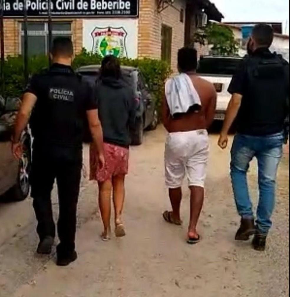 Suspeitos de criarem falsas lotéricas no Pará foram presos no Ceará  — Foto: Polícia Civil/Reprodução