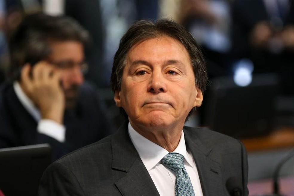 Imagem mostra o senador Eunício Oliveira (PMDB-CE), presidente do Senado (Foto: Marcelo Camargo/Agência Brasil)