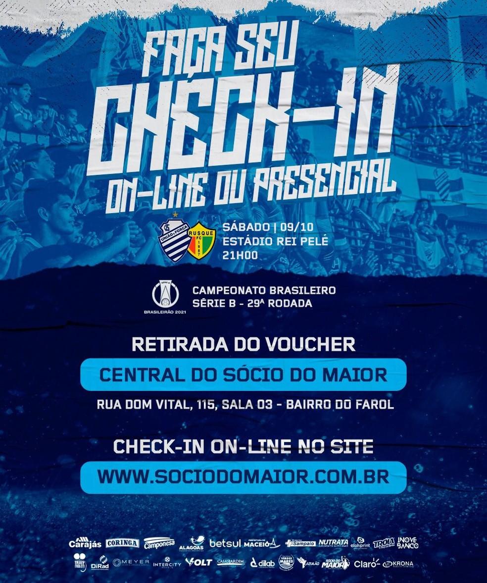 Retirada do voucher para CSA x Brusque — Foto: Divulgação/CSA