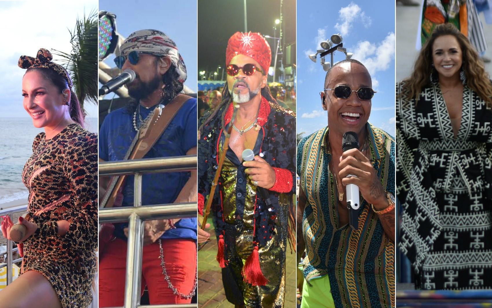 Claudia Leitte, Léo Santana, Bell, Brown e Daniela Mercury desfilam nesta quinta de abertura oficial do carnaval de Salvador