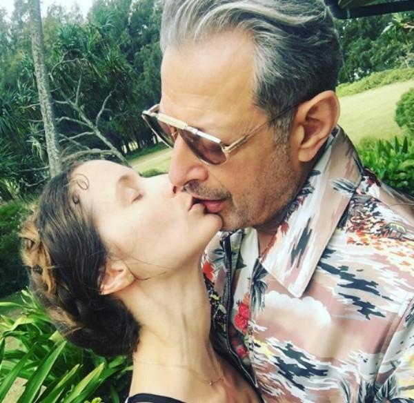 Emilie Livingston e Jeff Goldblum (Foto: Reprodução Instagram)