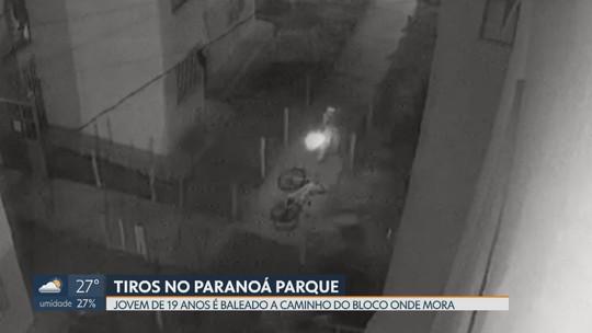 Jovem é baleado no Paranoá Parque