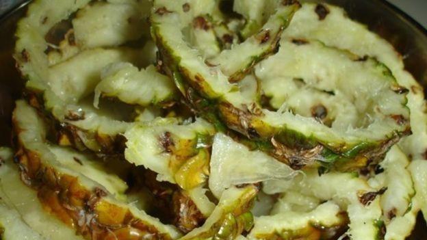 Resíduos de abacaxi usados na pesquisa: sua composição já chamava atenção das indústrias farmacêutica e cosmética (Foto: Dilvugação)