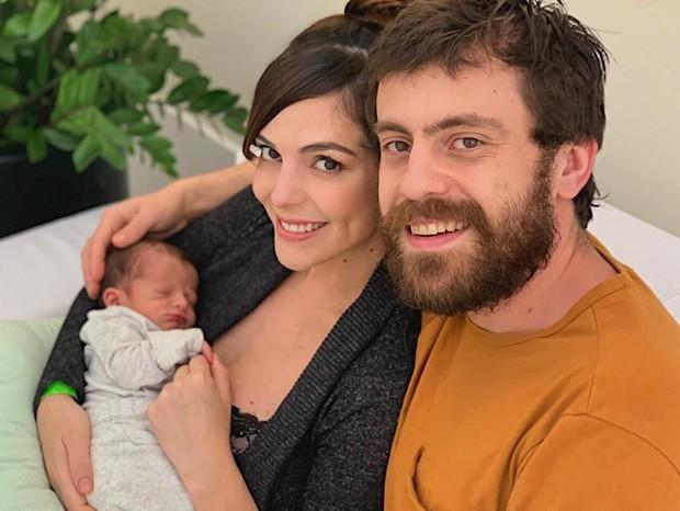 Titi Müller com o marido, Tomas, e o filho, Benjamin (Foto: Divulgação)