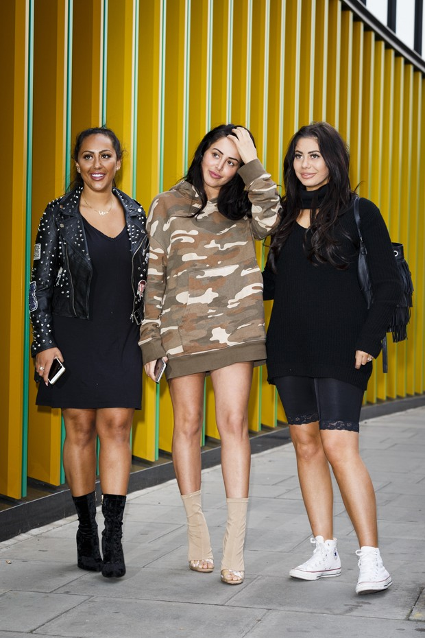 Sophie Kasaei, Marnie Simpson e Chloe Ferry, do Geordie Shore (Foto: Getty Images)
