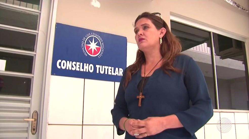 Celma Bento, presidente do Conselho Tutelar da cidade (Foto: Reprodução/TV Oeste)