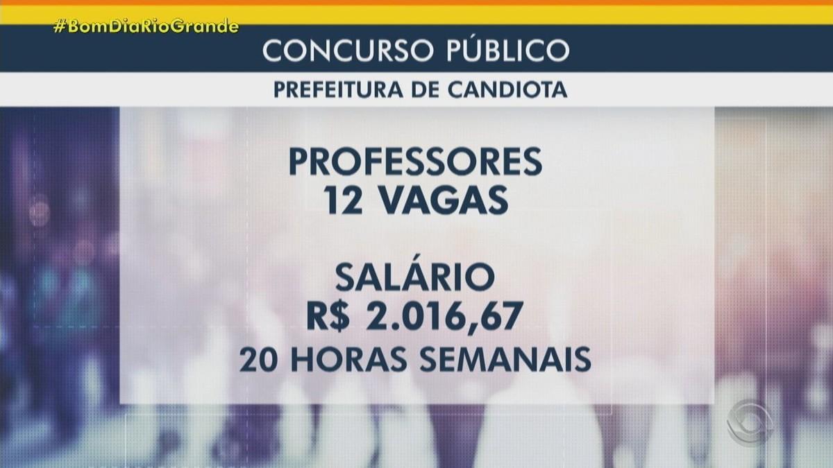 Prefeitura de Candiota abre concurso público com 33 vagas para professores