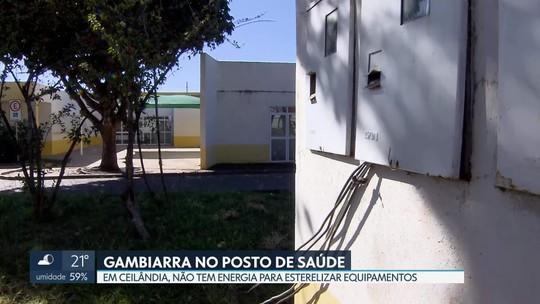 Posto de saúde em Ceilândia funciona na base da gambiarra