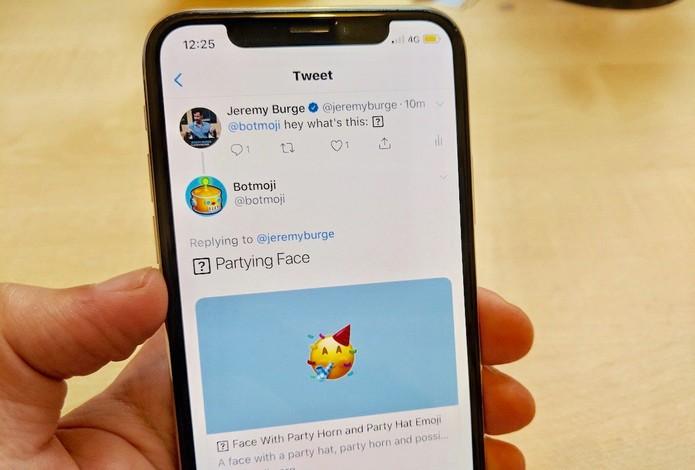 Emoji não reconhecido pelo sistema — Foto: Reprodução/Emojipedia